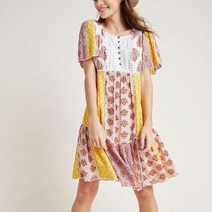 Anthropologie Melody Patchwork Dress